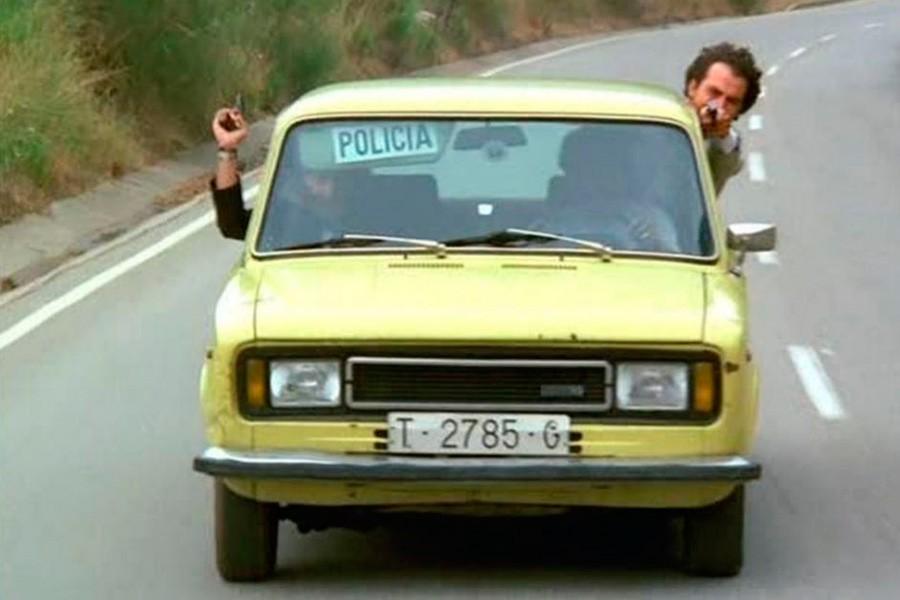 El Seat 124 era el coche predilecto para las persecuciones policíacas en el cine español.