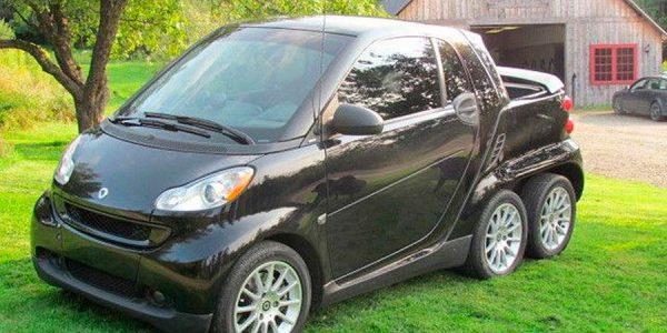 Un Smart de 6 ruedas a la venta en eBay