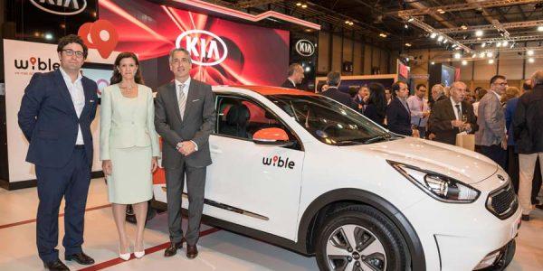 Wible, la nueva compañía de 'carsharing' de Kia y Repsol se presenta en Madrid Auto 2018