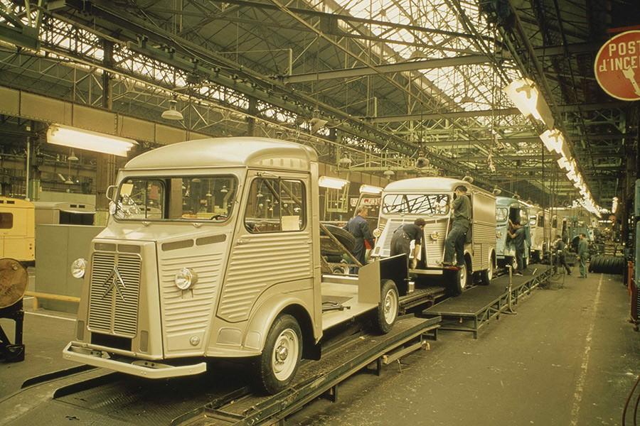 Las emblemáticas Citroën HY también se fabricaron aquí.
