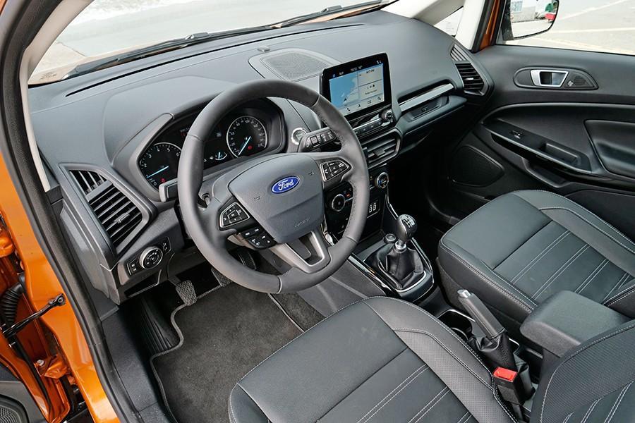 El interior ha mejorado mucho con esta puesta al día del Ecosport.