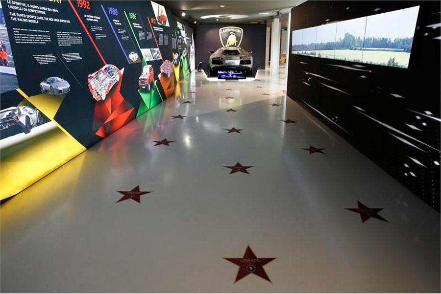 El Museo Lamborghini se convierte en Hollywood