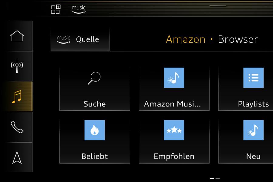 Amazon se incorpora al Audi connect