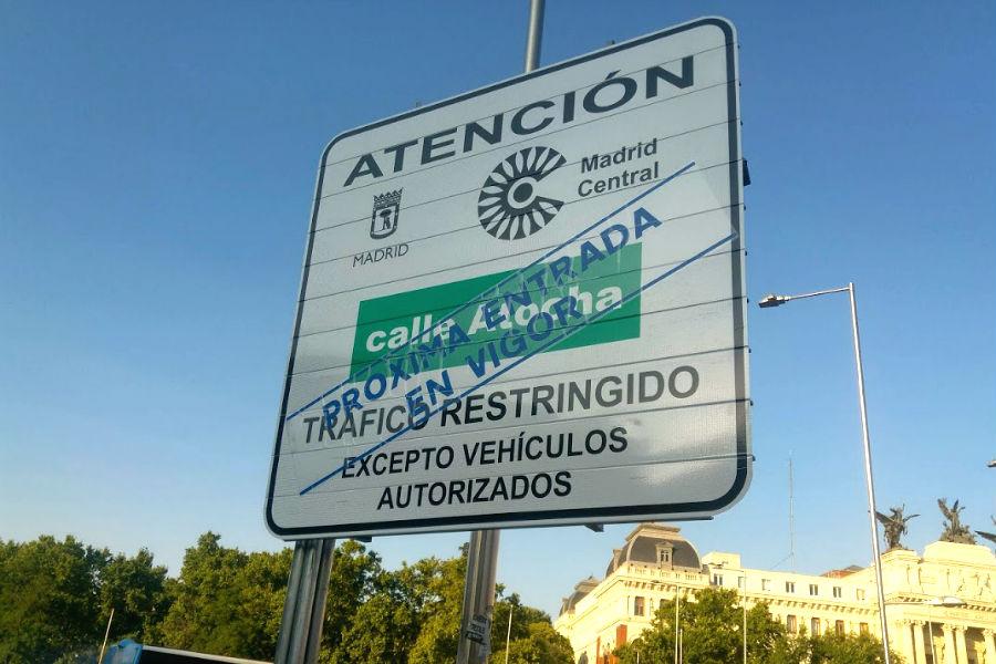 Las multas por entrar en Madrid Central se empezarán a tramitar el 15 de marzo