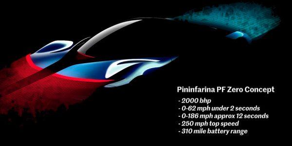 Pininfarina PF Zero: el asentamiento como marca independiente viaja a Pebble Beach