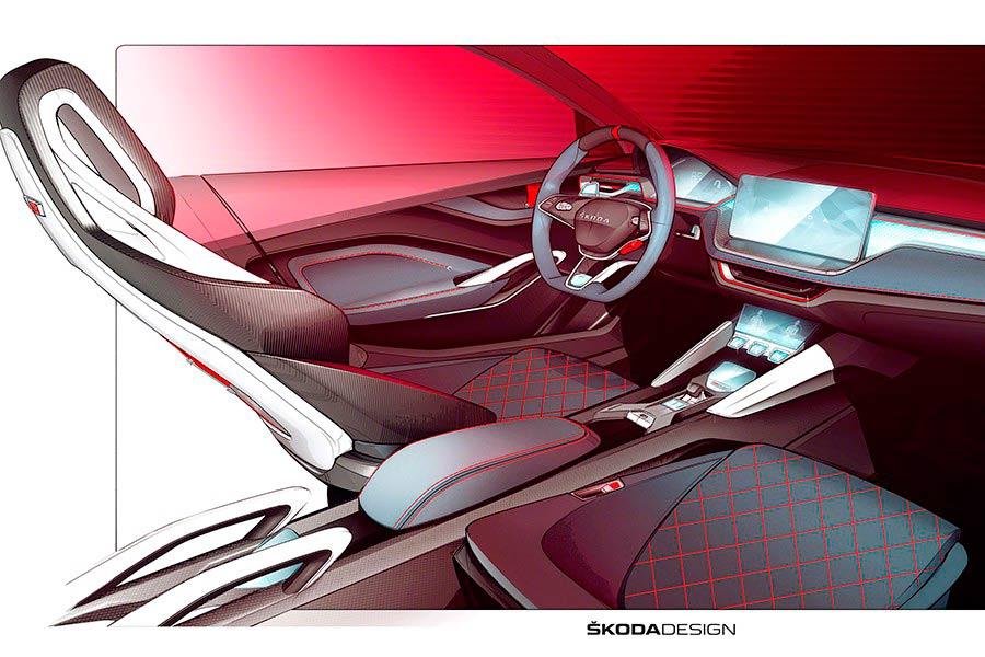 Skoda Vision RS interior.