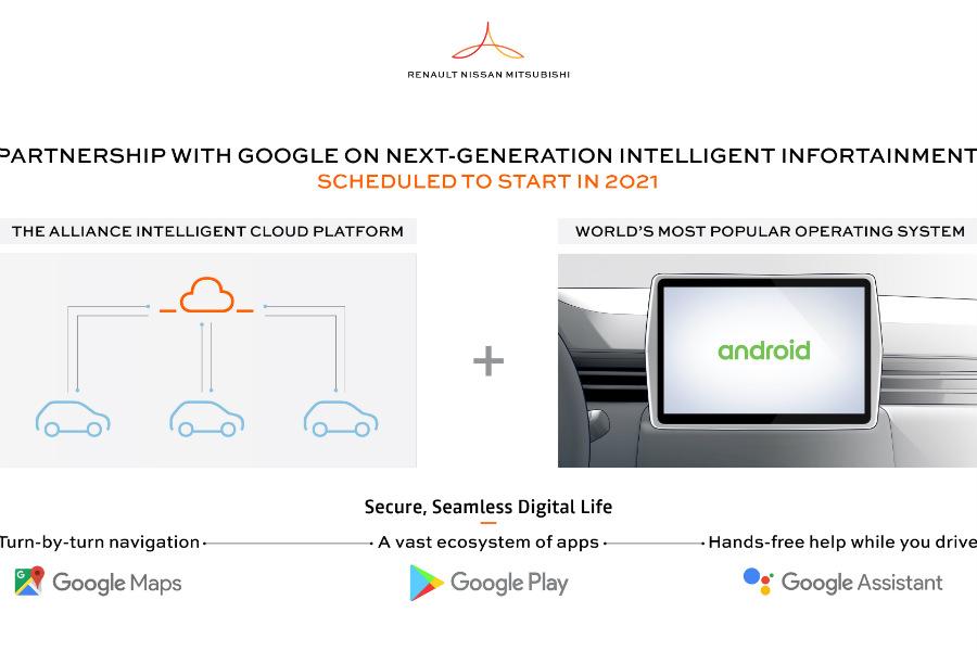 La integración del nuevo sistema Android a los vehículos de la alianza será beneficiosa para todas las partes