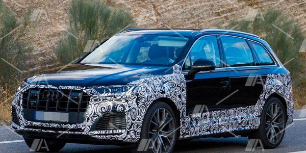 Fotos espía de los Audi Q7 e-Tron y SQ7 2019