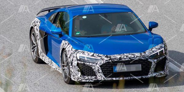 Fotos espía del renovado Audi R8 2019