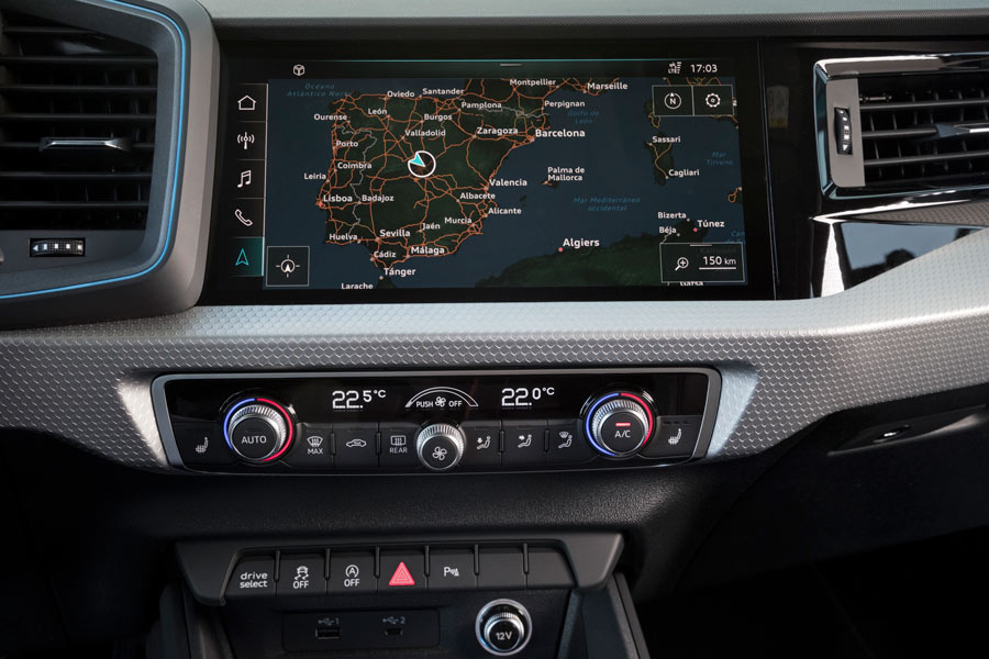 Audi A1 Sportback interior.