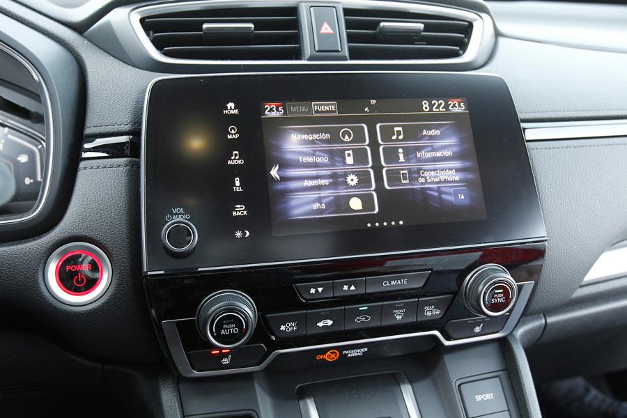 Honda CR-V híbrido 2019 interior.