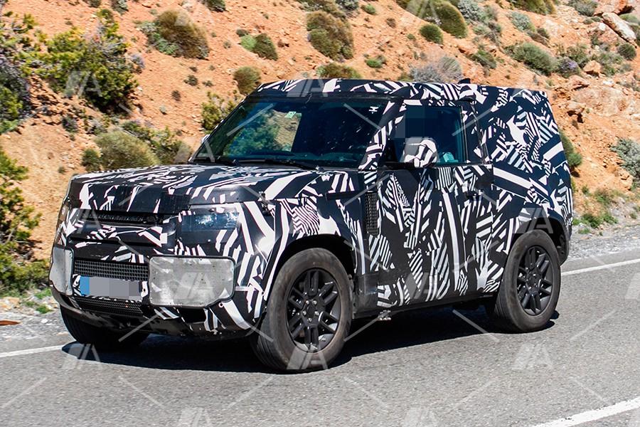 Fotos espía del nuevo Land Rover Defender 90 2020