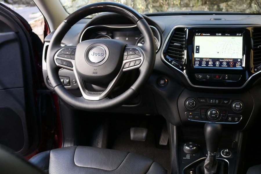 Prueba del Jeep Cherokee 4x4 Overland 2020 interior.
