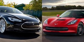 Vídeo: Tesla Model S vs Chevrolet Corvette Stingray