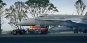 Vídeo: Red Bull F1 vs avión de combate F-18