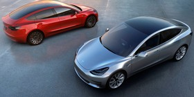 Musk desvela el aspecto final del Tesla Model 3
