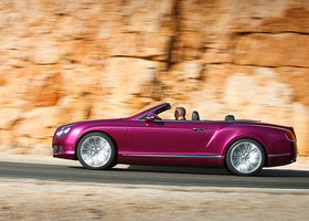 Bentley Continental GT Speed convertible, lateral