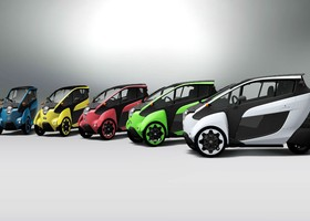 El Toyota i-Road está disponible en cinco colores diferentes.