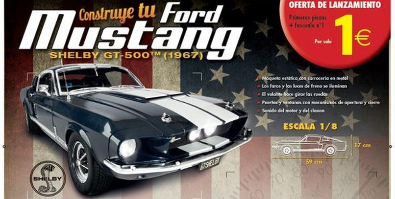 Construye tu Ford Mustang Shelby GT-500 con Altaya