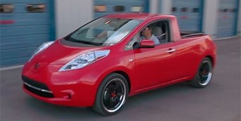 El Nissan Leaf Pick-Up, en vídeo