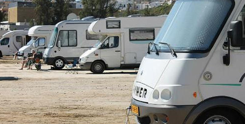 Parking de autocaravanas, en Mijas