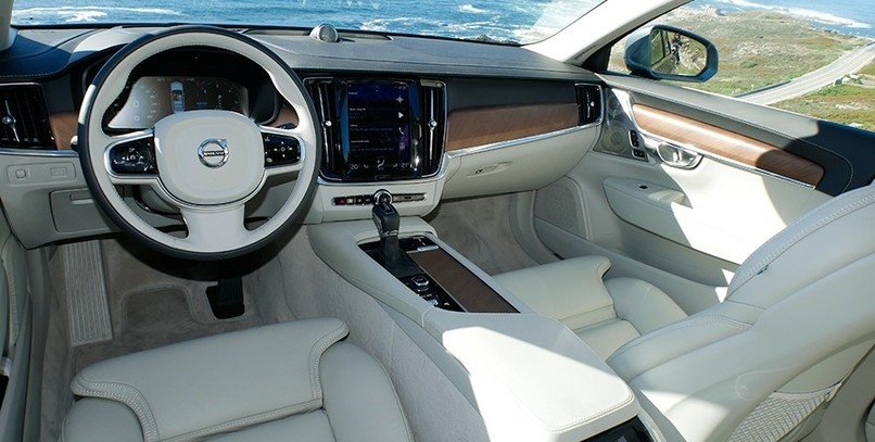 El interior del S90 es sublime.