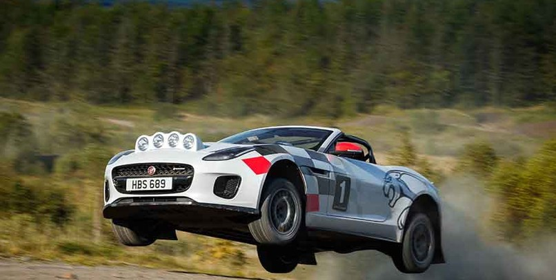 Jaguar F-Type R de rally: ¿a que no te lo imaginabas?
