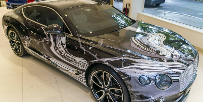 Bentley Continental GT Art Car: una pintura en movimiento