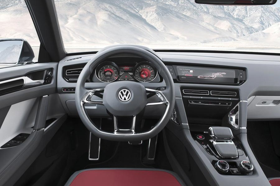 Interior del Volkswagen Cross Coupé Concept.