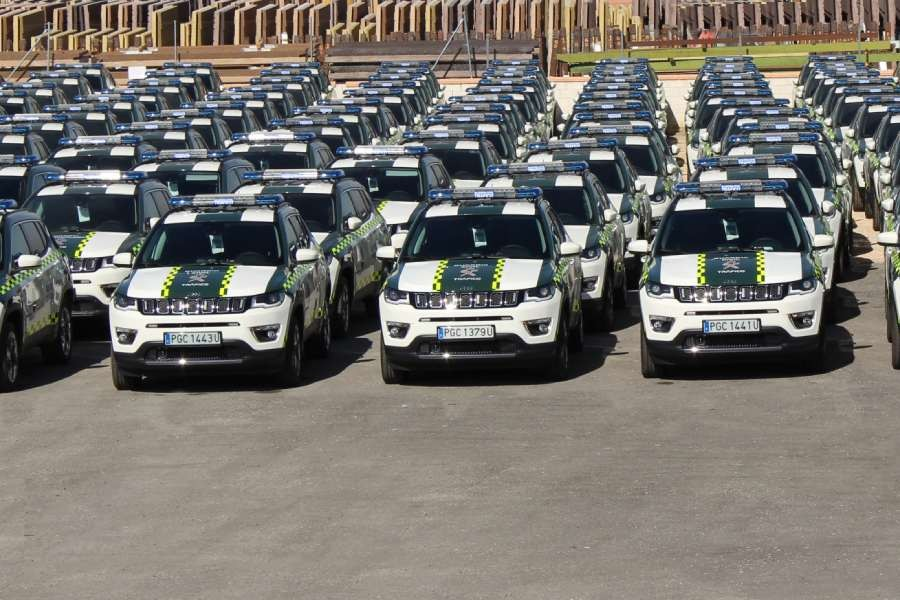 La Guardia Civil ha recibido 140 Jeep Compass
